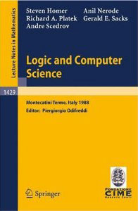 Logic and Computer Science: C.I.M.E. Lectures (1990)